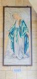 Geschonken Mozaïek - de kerk van Aankondiging stock fotografie