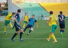 Geschossen auf dem Ziel im Match fckuban - fcluch 16. Juli 2016 krasnodar Stadion Lizenzfreie Stockbilder
