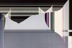 Geschossen auf den LCD-Monitor Lizenzfreies Stockbild