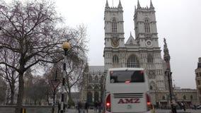 Geschossen auf Kennzeichen II Canons 5D mit Hauptl Linsen Historisches Gebäude - Westminster Abbey stock video footage