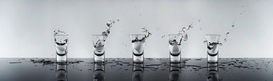 Geschossen vom alkoholischen Getränk Stockfoto