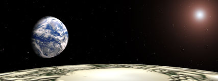 Geschossen vom Mond Lizenzfreie Stockbilder