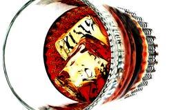Geschossen vom Whisky Stockfoto