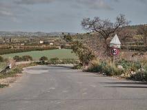 Geschossen von einer ländlichen Straße stockfoto
