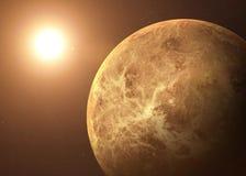 Geschossen von Venus genommen vom offenen Raum collage stockfoto