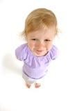 Geschossenes Weitwinkel des kleinen Mädchens Lizenzfreie Stockfotos
