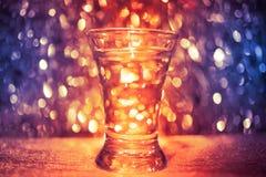 Geschoten glas wodka Royalty-vrije Stock Afbeeldingen