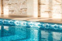 Geschoten van binnen zwembad Royalty-vrije Stock Afbeelding