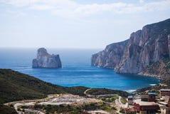 Geschoten van het eilandje van kalksteen Pan di Zucchero Royalty-vrije Stock Fotografie