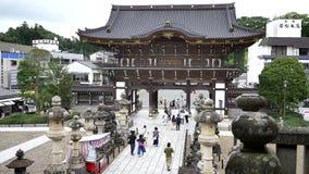 Geschoten van Japanse anicent tempel stock footage