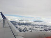 Geschoten van Noorwegen met verlaten sneeuw stock foto's