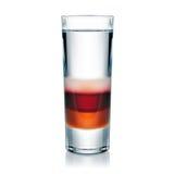 Geschotene die drank op wit wordt geïsoleerd royalty-vrije stock fotografie