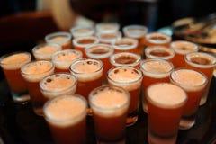 Geschotene glazen van cocktail om de partij te dienen Royalty-vrije Stock Afbeeldingen