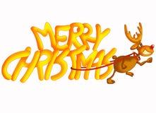 Geschreven Kerstmis Stock Foto's