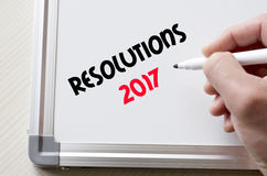 Geschreven resoluties 2017 over whiteboard Royalty-vrije Stock Foto