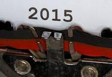 2015 geschreven schrijfmachine Stock Afbeeldingen