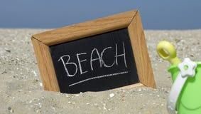 Geschreven strand Royalty-vrije Stock Afbeelding