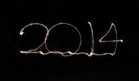 2014 geschrieben in funkelnde Buchstaben Lizenzfreie Stockfotos