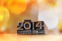 2014 geschrieben in Weinlese typface Lizenzfreies Stockfoto