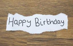 Geschriebenes alles Gute zum Geburtstag Stockbilder