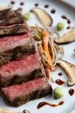 Geschroeid Japans Rundvlees stock foto