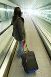 Geschsaftsreise mit Gepäck Stockbild