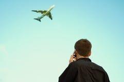 Geschsaftsreise und Kommunikation stockfoto