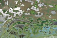 Geschuurde staaloppervlakte met klinknagels, groene kleur Stock Afbeelding