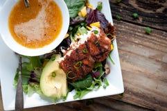 Geschwärzter Sommer-Salat Mahi Mahi Stockfotografie