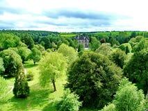 Geschwätz-Haus nahe Geschwätz-Schloss Stockfotografie