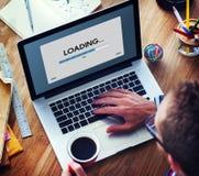 Geschwindigkeits-Fortschritts-Stangen-Ikonen-Technologie-Konzept lizenzfreie stockfotos
