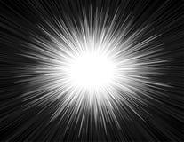 Geschwindigkeits-heller Comic-Buch-Art-Explosions-Strahln-Radialzoom-Hintergrund lizenzfreie abbildung