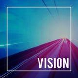 Geschwindigkeits-Motivations-schnelles abstraktes Straßen-Konzept Lizenzfreies Stockbild