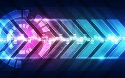 Geschwindigkeits-Technologiehintergrund des abstrakten Vektors zukünftiger, Illustration Stockbilder