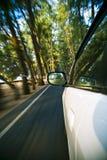 Geschwindigkeitsautofahren stockbild