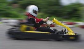Geschwindigkeitsgo-kart-Laufen Lizenzfreie Stockbilder
