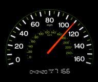 Geschwindigkeitsmesser - 110 MPH Stockfotografie