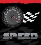 Geschwindigkeitsmesser auf dem abstrakten Hintergrund Lizenzfreie Stockbilder