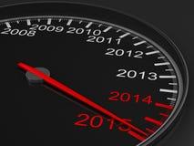 Geschwindigkeitsmesser auf schwarzem Hintergrund Lizenzfreie Stockfotos