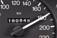 Geschwindigkeitsmesser bei 180 km/h Lizenzfreie Stockbilder