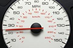 Geschwindigkeitsmesser bei 25 MPH Stockfotografie