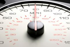 Geschwindigkeitsmesser bei 80 MPH Lizenzfreie Stockfotografie