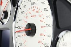 Geschwindigkeitsmesser bei 25 MPH Stockbilder