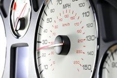 Geschwindigkeitsmesser bei 25 MPH Stockfoto
