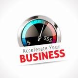Geschwindigkeitsmesser - beschleunigen Sie Ihr Geschäft Stockbild
