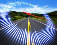 Geschwindigkeitsmesser-Datenbahn Stockfoto