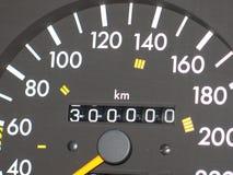 Geschwindigkeitsmesser 300 000 Kilometer Lizenzfreies Stockfoto
