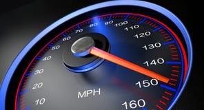 Geschwindigkeitsmesser MPH fasten Lizenzfreies Stockfoto