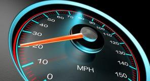 Geschwindigkeitsmesser MPH verlangsamen Stockfotografie