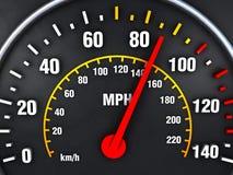 Geschwindigkeitsmesser nach oben Lizenzfreie Stockfotografie